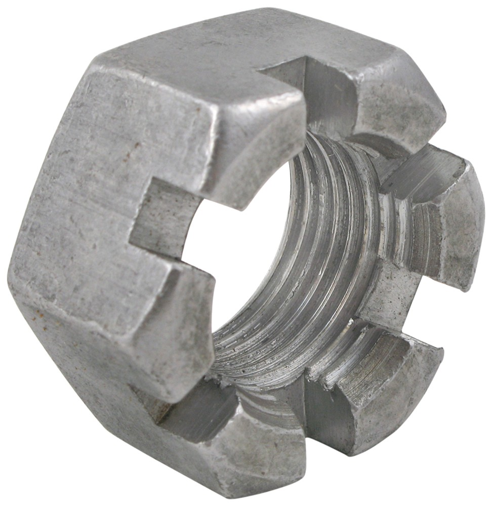 hex slotted heavy nut